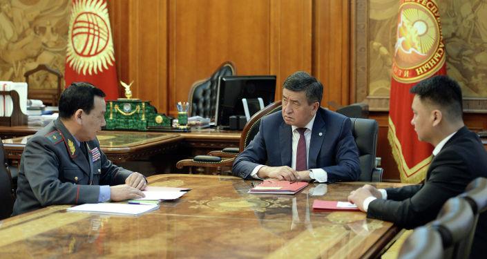 Президент Кыргызской Республики Сооронбай Жээнбеков  принял министра внутренних дел страны Кашкара Джунушалиева. 1 февраля 2019 года