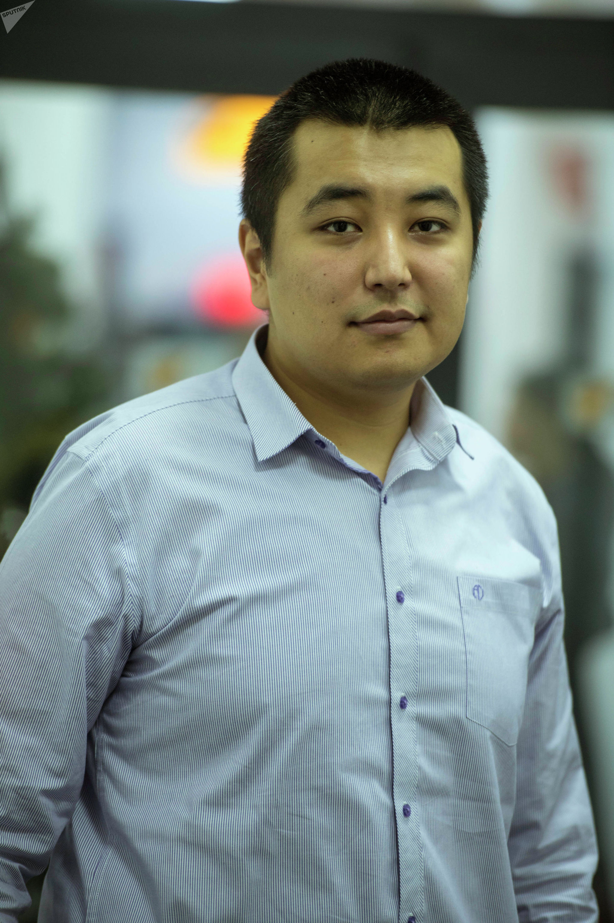 Кыргызстанец Чингиз Мансуров в офисе Sputnik