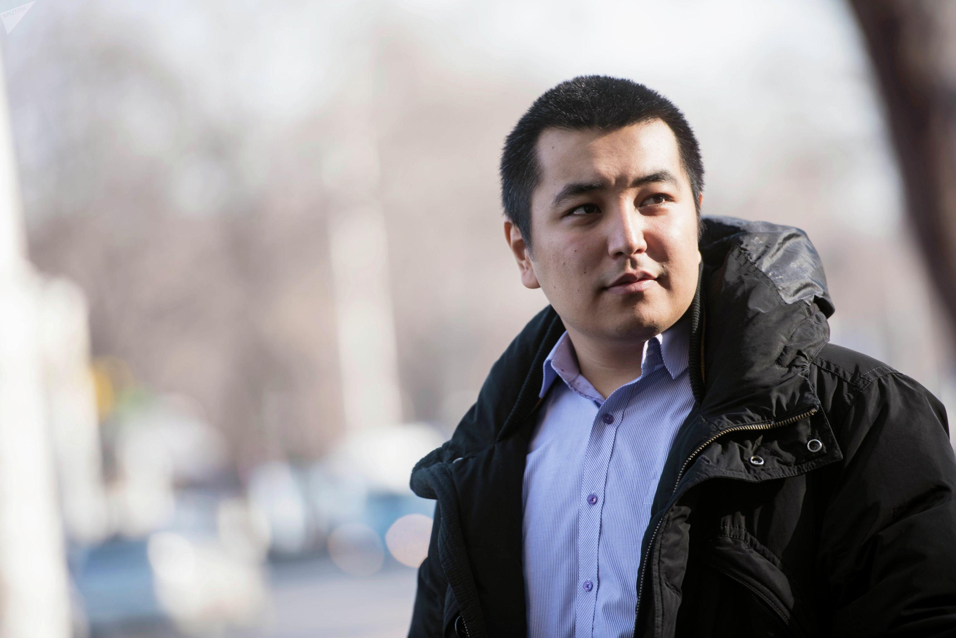 Кыргызстанец Чингиз Мансуров на фотосете