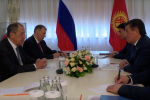 В Бишкеке состоялась встреча президента КР Сооронбая Жээнбекова и министра иностранных дел РФ Сергея Лаврова, прибывшего в республику с официальным визитом.