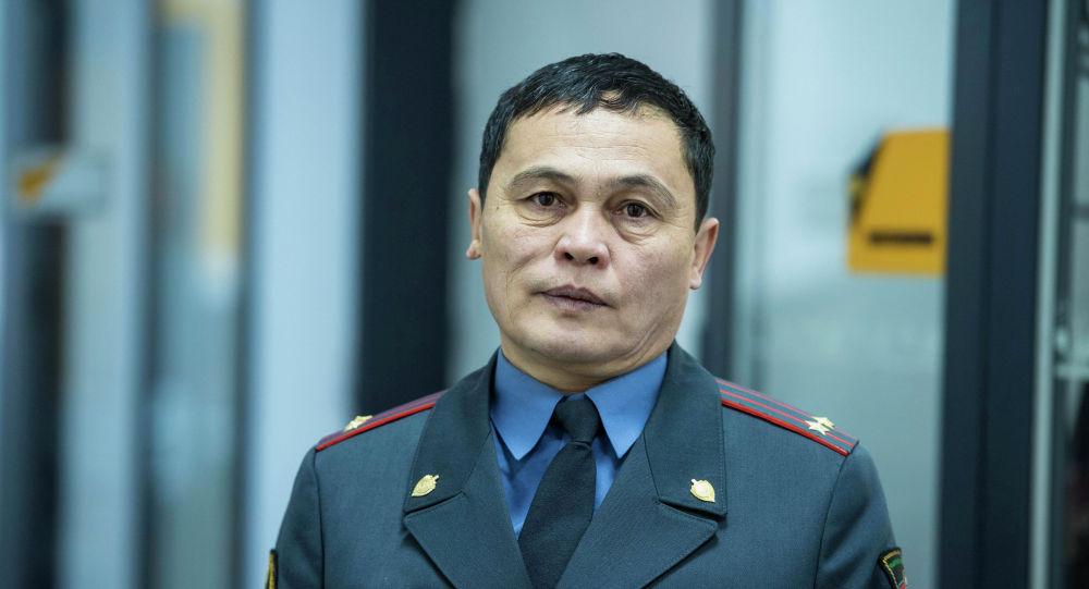 Главный инспектор по делам несовершеннолетних службы общественной безопасности (СОБ) МВД Рашид Карабаев. Архивное фото