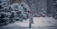 Утро 6 февраля в Бишкеке было необычайно снежным