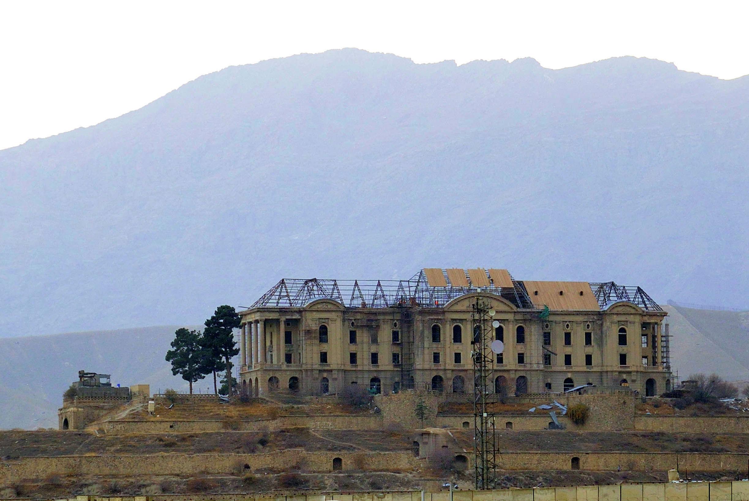 Дворец Тадж-Бек (Дворец Амина) на окраине Кабула.
