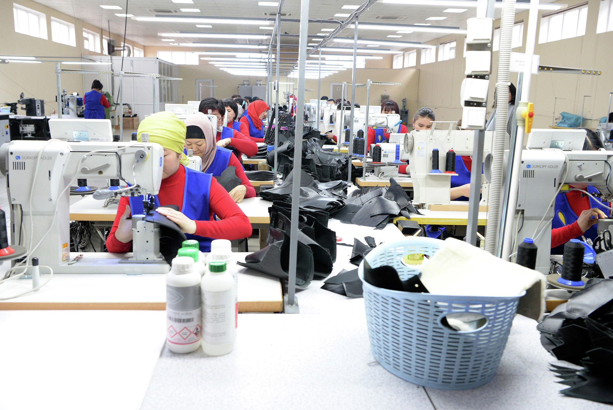 Швейный цех в компании ОсОО Империал групп Ко в Сокулукском районе
