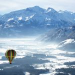 Воздушный шар над городком Целль-ам-Зе (Австрия)