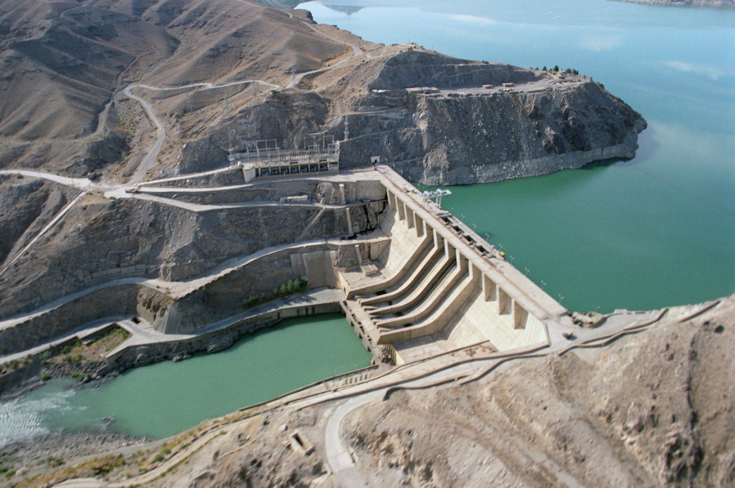 Плотина и ГЭС Наглу, построенные при техническом содействии СССР.