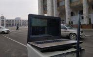 Передвижной аппаратно-программный комплекс для фиксации нарушений Правил дорожного движения Автопатруль радар в рамках Безопасного города. Архивное фото
