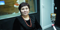 Экс-начальник ДПС ГУВД Бишкека Зумрад Джанабаева во время беседы на радио Sputnik Кыргызстан