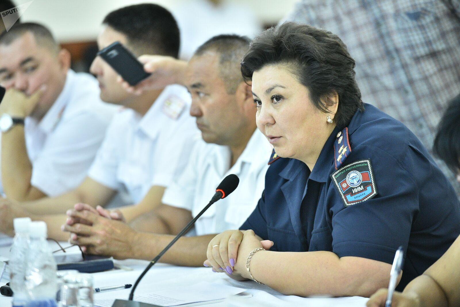 Начальник столичной дорожно-патрульной службы Главного управления внутренних дел полковник милиции Зумрад Джанабаева. Архивное фото
