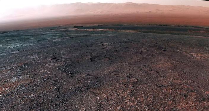 Космическое агентство смонтировало видео на основе панорамы, сделанной марсоходом 19 декабря прошлого года.