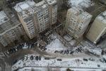 Жилые многоэтажные дома в одном из микрорайонов Бишкека