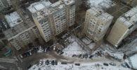 Бишкектеги көп кабаттуу имараты. Архивдик сүрөт