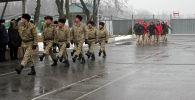 На территории военного аэродрома Фрунзе-1 Сил воздушной обороны КР прошли праздничные мероприятия, посвященные 30-летию вывода советских войск из Афганистана