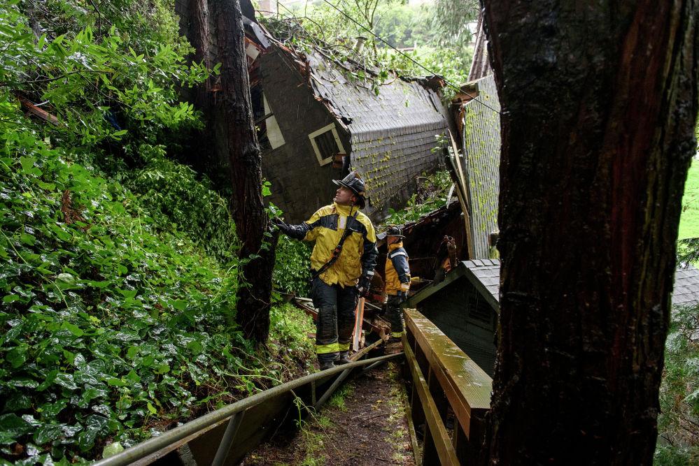 Последствия проливных дождей в Калифорнии