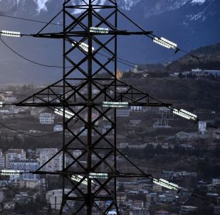 Высоковольтная линия электропередачи. Архивное фото
