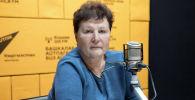 Доктор медицинских наук, профессор Ольга Алейникова во время беседы на радио Sputnik Кыргызстан