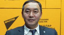 Заведующий отделом транспорта мэрии Бишкека Кубан Джусупов во время беседы на радио