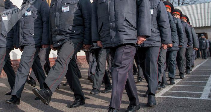 Сотрудники милициии. Архивное фото