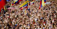 Митинг сторонников провозгласившего себя временным президентом страны лидера оппозиции Хуана Гуаидо в Каракасе.