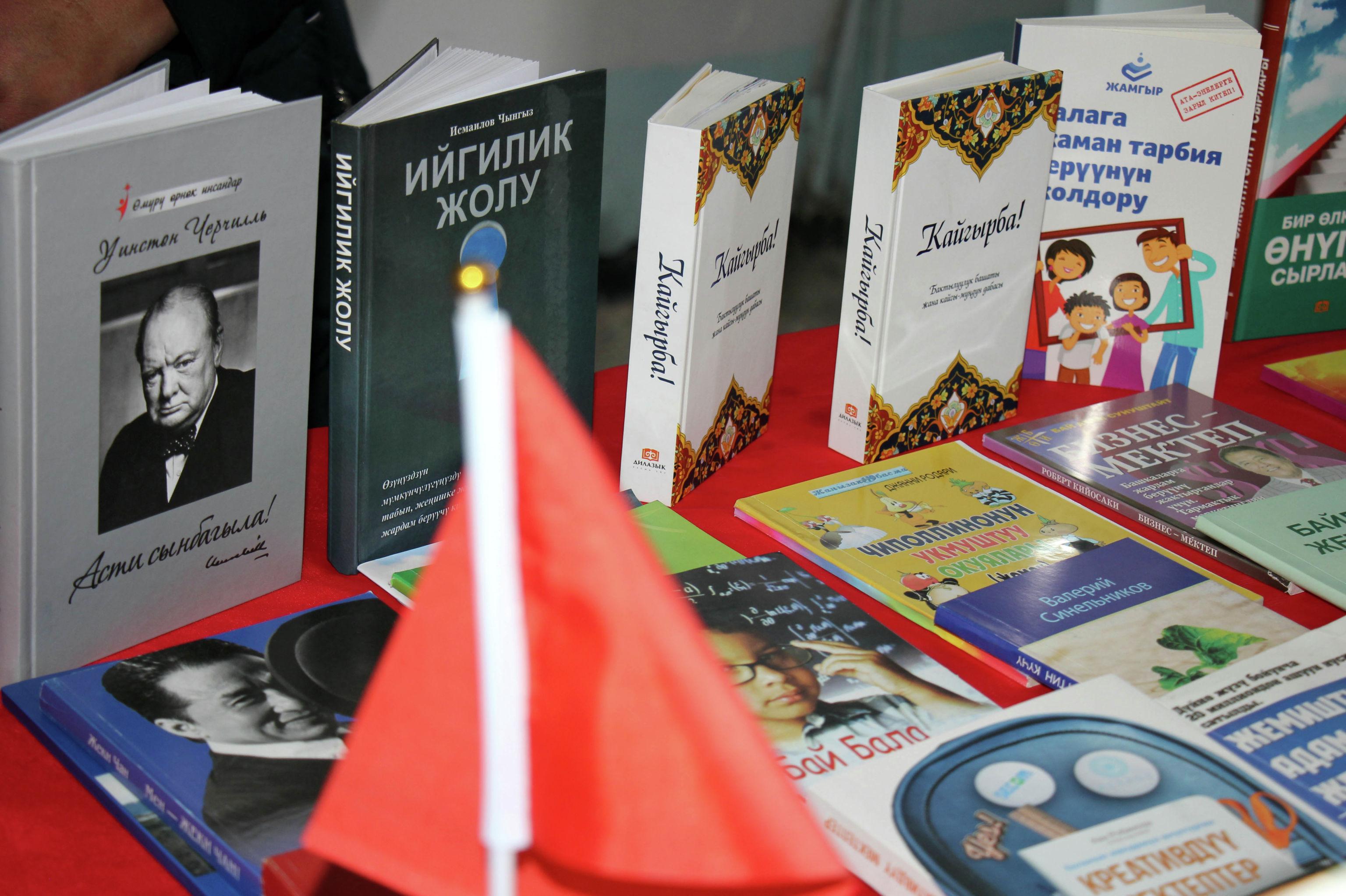 Книги в библиотеке в селе Ак-Талаа Нарынской области