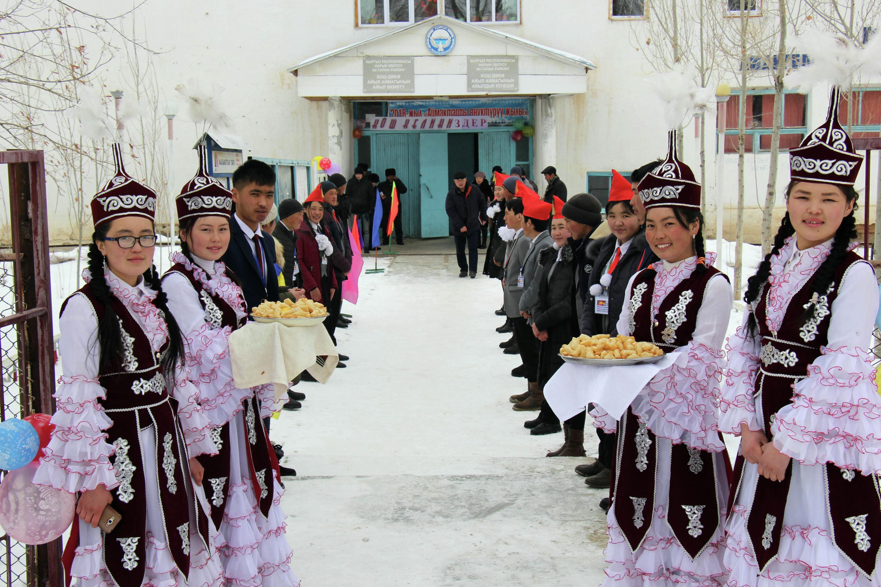 Библиотека села Ак-Талаа Нарынской области