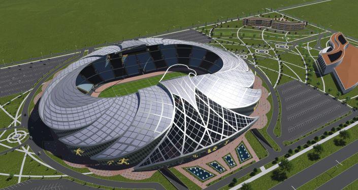 Проект стадиона в Бишкеке в виде беркута архитектора Якутбека Кубанычбекова