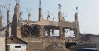 Строительный объект по улице Аскара Шакирова в городе Ош, где погиб рабочий