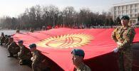 В Оше состоялись мероприятия, приуроченные к Дню государственного флага КР