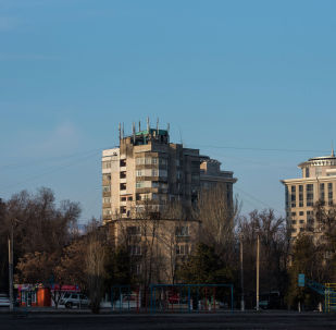 Жилые дома в одном из микрорайонов Бишкека. Архивное фото