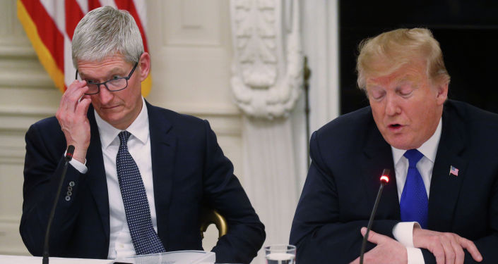 АКШнын президенти Дональд Трамп жана Apple компаниясынын башкы директору Тим Кук