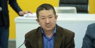 Эколог Омурбек Элеманов на круглом столе в пресс-центре Sputnik Кыргызстан