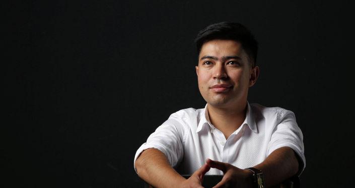 Предприниматель Тимур Аралбаев во время фотосета
