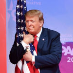 Президент США Дональд Трамп на конференции консервативных активистов в Мэриленде