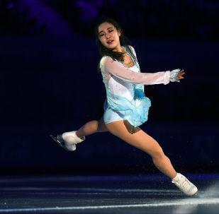 Соёун Парк (Республика Корея) во время показательных выступлений на XXIX Всемирной зимней Универсиаде 2019 в России