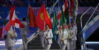 Церемония закрытия XXIX Всемирной зимней Универсиады 2019 в Красноярске.