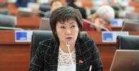 Жогорку Кеңештин депутаты Жылдыз Мусабекова. Архив