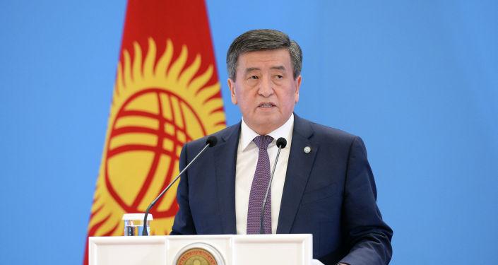 Президент Кыргызской Республики Сооронбай Жээнбеков на совещании с руководителями загранучреждений Кыргызской Республики. 14 марта 2019 года