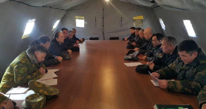 Переговоры с таджикской стороной по урегулированию ситуации на участке кыргызско-таджикской государственной границы