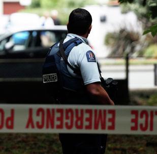Полицейский охраняет территорию перед мечетью Масджид аль-Нур после инцидента со стрельбой в Крайстчерче. Архивное фото