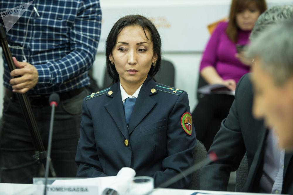Старший инспектор группы таможенного оформления Северо-восточной таможни Салима Тюменбаева