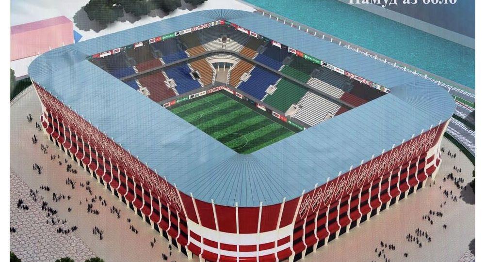 Душанбеде 30 миң көрүүчүгө ылайыкталган жаңы заманбап стадиондун курулушу башталды