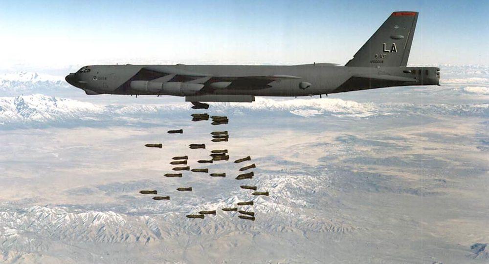 Американский стратегический бомбардировщик B-52H Stratofortress. Архивное фото