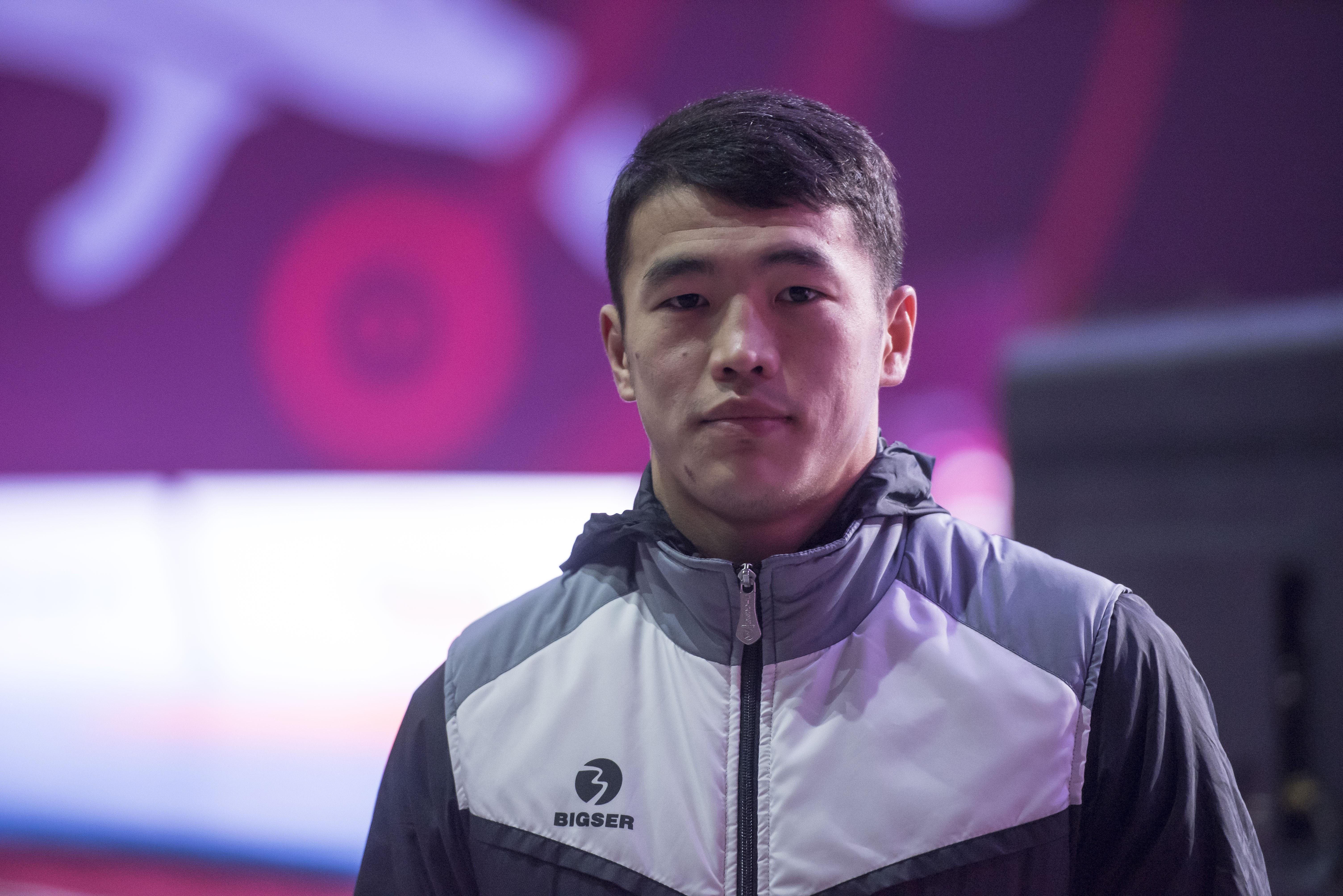 Кыргызстанский борец греко-римского стиля Акжол Махмудов в Бишкеке