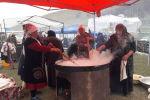 Жалал-Абад шаарында Нооруз майрамына карата Сүмөлөк фестивалына 40 казан сүмөлөк кайнатылды.