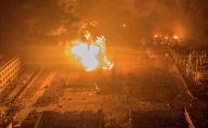 Пожар после взрыва на химзаводе Цзянсу Тяньцзяи в провинции Цзянсу, Китай. 21 марта 2019 года