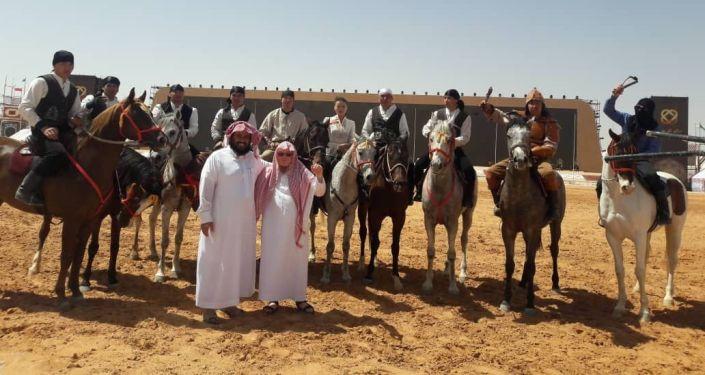 Кыргызский каскадер, участник фестиваля Camel Fest в Саудовской Аравии Улукбек Омурбеков