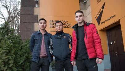 Организаторы концертов зарубежных звезд в Бишкеке Аксель Таштемиров(слева), Роман Островский(справа) и Назар Дабыл