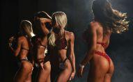 Участницы чемпионата по фитнес-бикини. Архивное фото