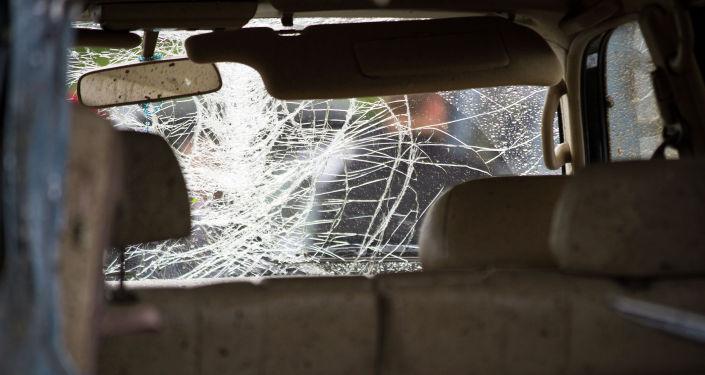 Поврежденный автомобиль. Архивное фото