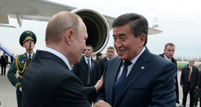фоторепортаж встречи главы государства Сооронбая Жээнбекова с президентом России Владимиром Путиным